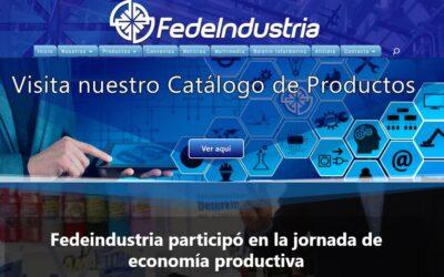 Fedeindustria participó en la jornada de economía productiva